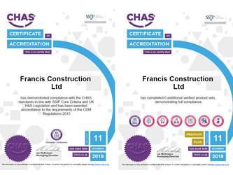 CHAS Premium Plus Accreditation secured....