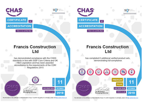 CHAS Premium Plus Accreditation secured....