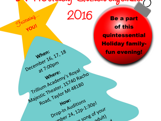 Audition Announcement - Holiday Extravaganza