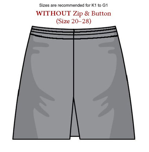 Culottes without Zip & Button (Size 20–28)