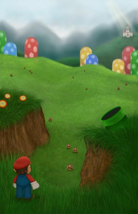 Mario Concept Art