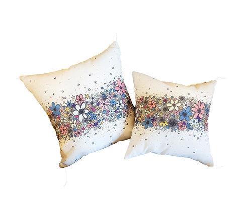 Flower Stripe Pillow