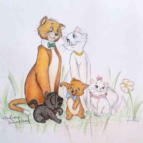Aristocats doodle