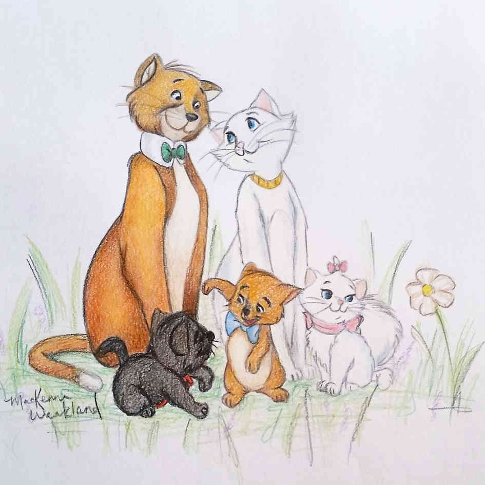 Aristocats doodle