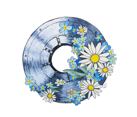 Bearing with Flowers - a tattoo