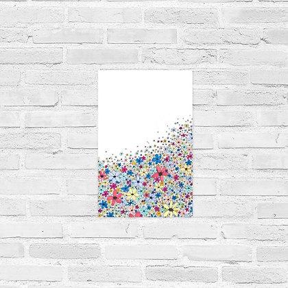 "Flower Pile Poster 11""x17"""