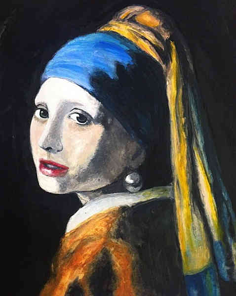 Girl with Pearl Earring Recreated