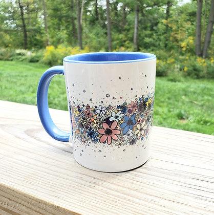 Flower Stripe Mug