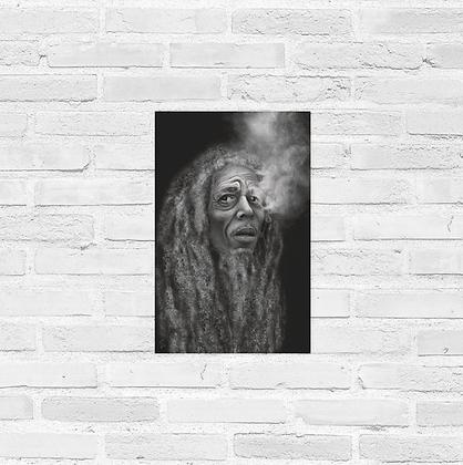 "Aged Bob Marley Poster 11""x17"""