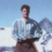 Pier Giorgio Frassati on top of a mountain