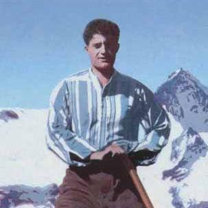 Pier Giorgio Frassati on top of a mountain