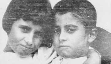 Pier Giorgio Frassati and his sister Luciana as young children