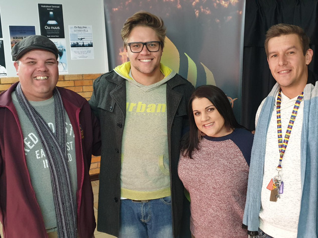 Kobus van der Schyff-Smal, Wayne van der Schyff-Smal, Carien Botha en Stefan Vermaak