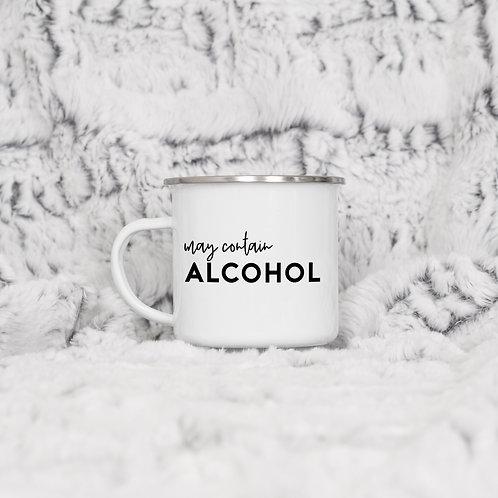 May Contain Alcohol Enamel Mug