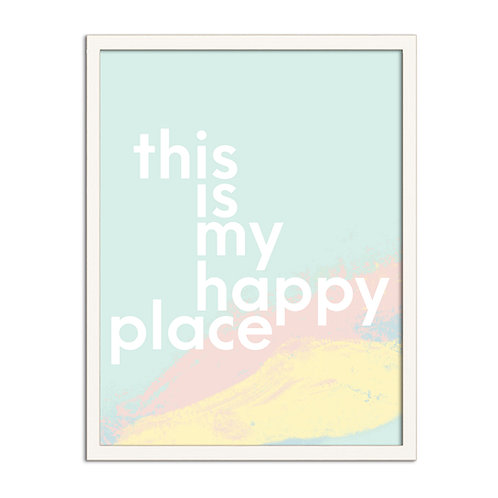 'This is my Happy Place' Pastel - Framed Print