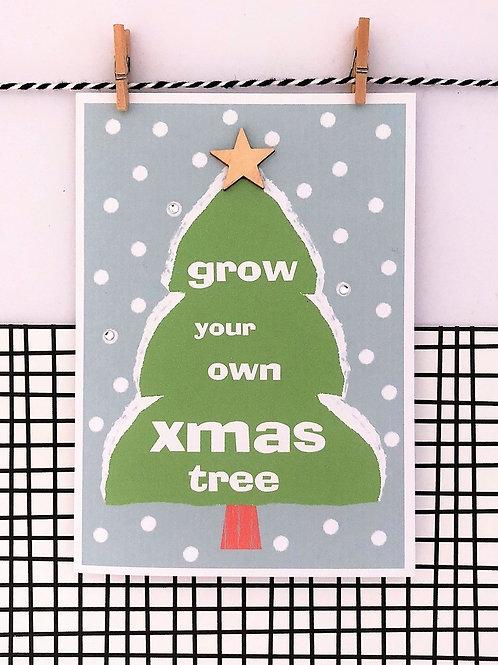 Grow Your Own Christmas Tree Card