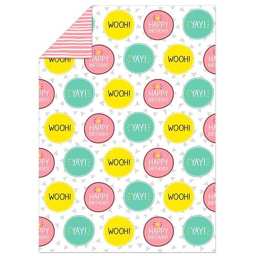 Happy Jackson Yay! Wooh! Neon Flat Wrap
