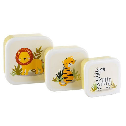 Savannah Safari Lunch Boxes - Set of 3