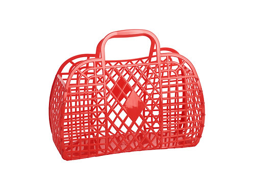 Retro Basket - Large Red