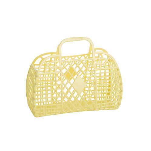 Retro Basket - Small Yellow