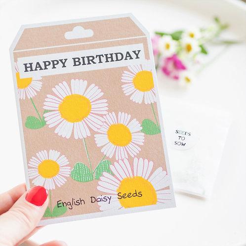 Daisy Seed Birthday Card