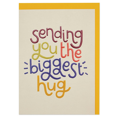 'Sending You the Biggest Hug' Card