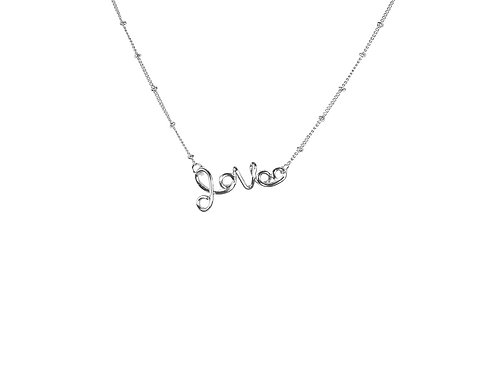 Melania Love Necklace - Silver
