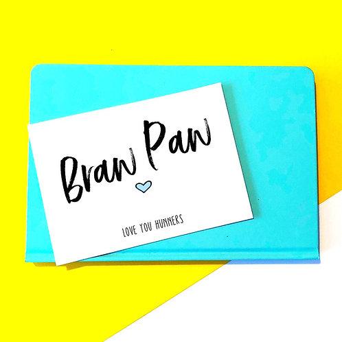 'Braw Paw' Card