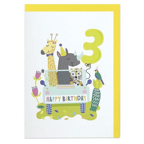 Happy Birthday - Age 3
