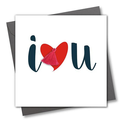 I Love You Tassel Card