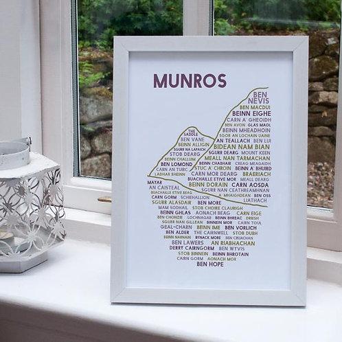 A4 Munros Print