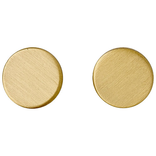 Wynonna Gold-Plated Solid Circle Earrings