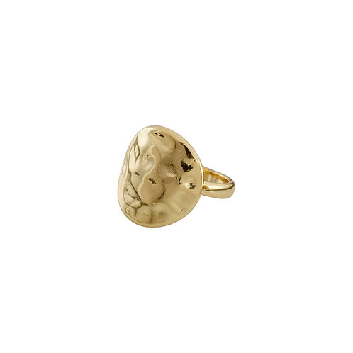 Cornelia Gold-Plated Ring with Hammered Surface