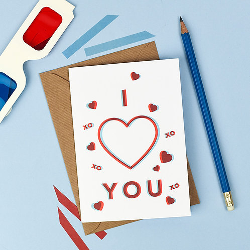 3D 'I Love You' Card