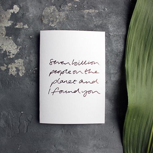 'Seven Billion People' Card