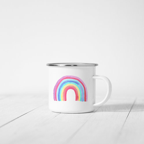 Rainbow Bright Enamel Mug