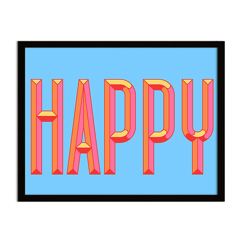 HAPPY - Framed Print