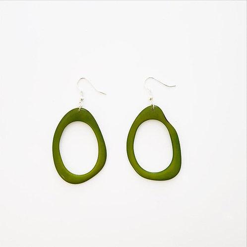 Loop Earrings - Green
