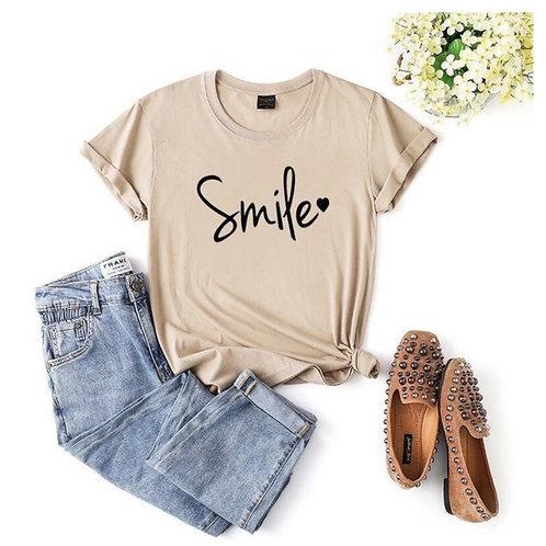 Smile T-shirt - Cream