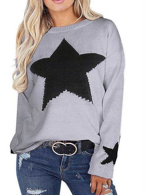One Size Star Jumper - Grey/Black