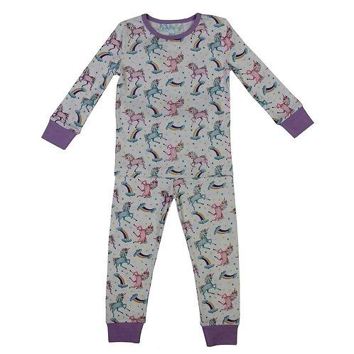 Unicorn Print Cosy Pyjamas