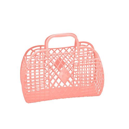 Retro Basket - Large Peach