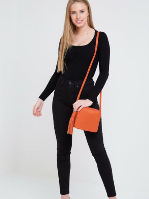 Box Bag with Tassel - Orange