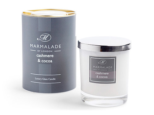 Cashmere & Cocoa Large Glass Candle