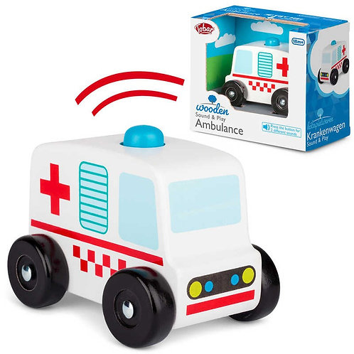Wooden Sound and Play Ambulance
