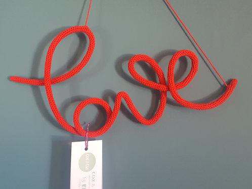 'Love' Crochet Wire Sign