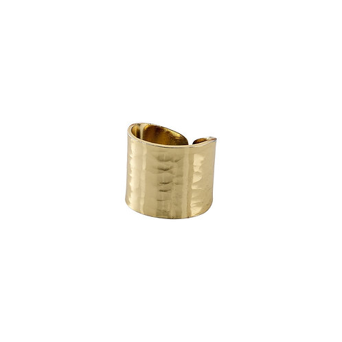 Abbie Gold-Plated Hammered Ring