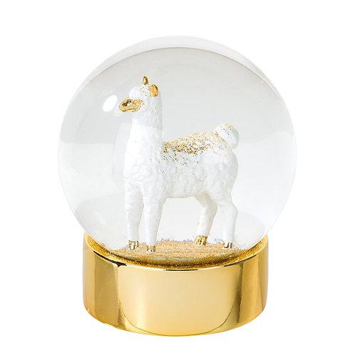 Llama Snow Globe