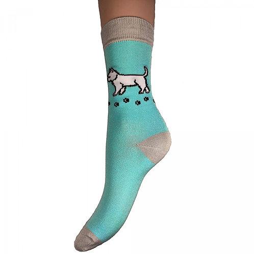 Westie Bamboo Socks 4-7