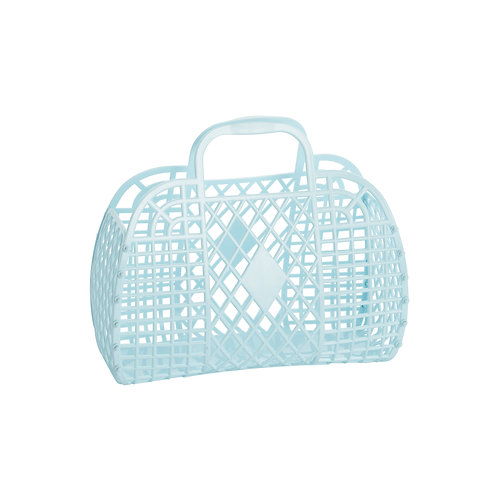 Retro Basket - Small Blue